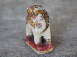 Small Marble Elephant decorated with Gold Leaf <b>SOLD<b>